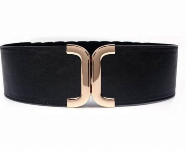 Belt Women's Elastic Belt Black Gold Buckle Ladies Sexy Stretch Belt Access New